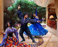 "Romani Gypsy band ""Svenko"" from Russia. Gypsy dancers, barefoot Gypsy girls. Barfuss Zigeunerin. Des Bohémiennes à pieds nus. Des Gitanes à pieds nus. Las gitanas descalzas."
