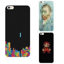 Phone Cases For Apple Iphone 6 6s TPU Soft Shell Back Cover Super Mary Tetris lattice Composition Housing coque Accessories(China (Mainland))
