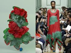 Marie Valognes, aka mise en, the artist who has been transforming our favourite runway looks into abstract sculptures over recent seasons Abstract Sculpture, Shibori, Fashion Beauty, Sculptures, Runway, Seasons, Silk, Artist, Fabric
