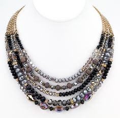 The beaded necklaces are able to spice up your look channeling color and texture that add on to your style.