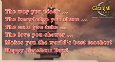 Teachers Day Gifts, Happy Teachers Day, Teachers' Day, Best Teacher, Knowledge, Love You, Teaching, Te Amo, Je T'aime
