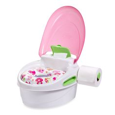 Step-by-Step Potty Trainer and Step Stool in Pink - buybuyBaby.com