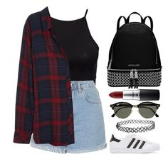Untitled #286 by barijeziberi on Polyvore featuring polyvore, fashion, style, Rails, NLY Trend, Topshop, adidas Originals, Michael Kors, Ray-Ban, MAC Cosmetics and clothing