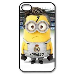 Minion cristiano ronaldo CR7 real madrid for iPhone 4 4S 4G 5 5S 5C Case Cover