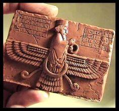 Persian Ahura mazda and Sumerian winged disc C.700 BCE