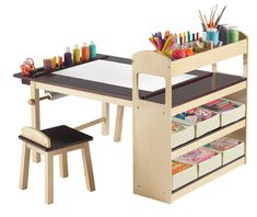 This is so awesome, I'd want it for myself! Deluxe Art Center | Guidecraft Art Cart, Pull Out Drawers, Wooden Bedroom, Bedroom Furniture, Art Lessons For Kids, Art For Kids, Design Crafts, 3 Piece Art, Kids Rooms