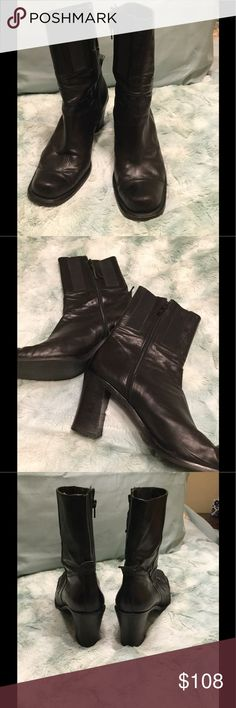 """Donald Pliner boots Black leather boot. Zipper on side, 3"""" heel.  Very good condition Donald J. Pliner Shoes Heeled Boots"""