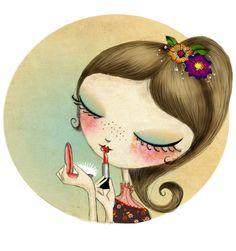 """Ilustración para """"OH la Belle"""". #laliblue"""