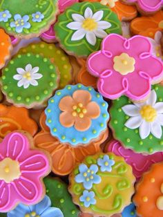Summer cookies inspiration - above my skill level for now...but sooooo pretty!