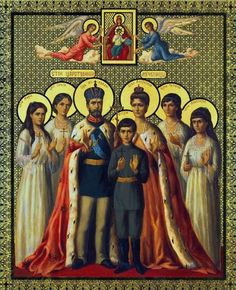 Romanov Family Icon in memory of The Royal Martyrs        July 17, 1918 - Nick 2 Family