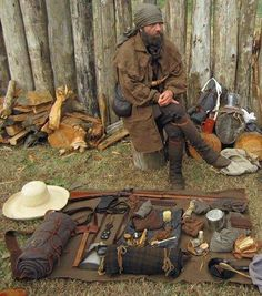 The basic kit takes many forms, depending on the time period (primitive, historic or contemporary). Packing for the Cherokee Campaign...Davidson's Fort...on the North Carolina Frontier