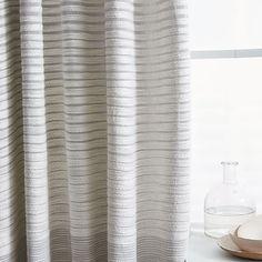 Textured Stripe Curtain #westelm