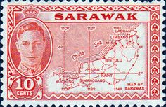 Sarawak 1952 Map SG 186 Fine Mint SG 186 Scott 195 Other British Commonwealth Empire and Colonial stamps Here