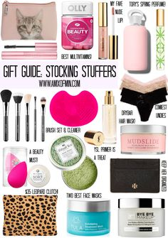 A Mix of Min rounds up all the girly girl stocking stuffer essentials gift guide. A Mix of Min rounds up all the girly girl stocking stuffer essentials gift guide. Birthday Gifts For Teens, Christmas Gifts For Girls, Christmas Gift Guide, Holiday Gifts, Christmas Ideas, Diy Birthday, Birthday Presents, Teen Girl Birthday, Birthday Parties