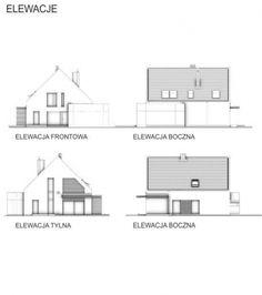 JACHTOMA 4 projekt domu jednorodzinnego. Elewacje. House plan. Elevation. Abakon budowa domów.