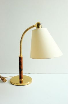 RARE 1940s JOSEF FRANK KALMAR TISCH-UBERALL MODERNIST BRASS DESK TABLE LAMP
