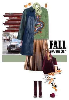 """""""Fall Sweaters"""" by justirena ❤ liked on Polyvore featuring WALL, Balenciaga, Tara Jarmon, Valentino, Under Armour, Tory Burch, Begada, Lancôme, Kenneth Jay Lane and Prada"""