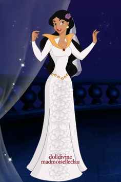 Jasmine by belnika created using the azaleas dolls for Princess jasmine wedding dress