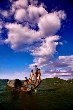 Tamgiang lagoon, Thua thien-Hue, Vietnam