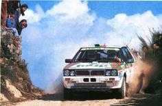 Yves Loubet (Lancia-Delta HF 4WD) rallye du portugal 1988 - sport-auto avril 1988.
