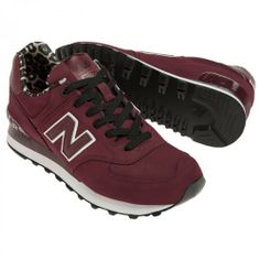 new balance 574 women burgundy