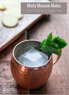 These low carb and sugar free Moscow Mules have the traditional lime and ginger with the addition of some refreshing mint!