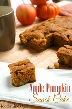 Apple Pumpkin Snack Cake