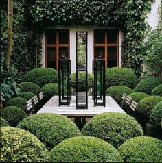 Take your patio layout design to the next level with our list of favorite ideas. Whether it is large patios, or fire pits you will find everything you need Landscape Architecture, Landscape Design, Garden Design, Formal Gardens, Outdoor Gardens, Outdoor Rooms, Outdoor Living, Boxwood Garden, Garden Pots