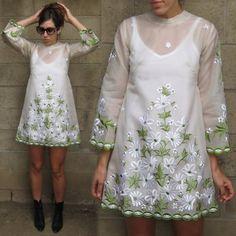 Mini Skirt Dresses circa 1960