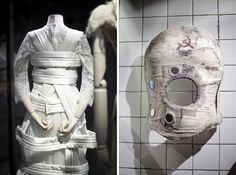 On the left: Comme des Garçons by Rei Kawakubo spring/summer 2012. On the right: corset made of plaster, decorated by Frida Kahlo, ca. 1941