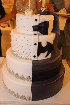 Surprise Batman Wedding cake for the groom batman weddingcake