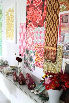 Amy Butler's Idea Boards. Love the combination of colours and patterns