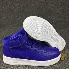 ada15ba326c5 Mens Womens Sneakers Nike Air Force 1 Mid Concord White 819677 402 Air  Force 1 Mid