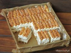 Baking Recipes, Cake Recipes, Dessert Recipes, Icebox Cake, Polish Recipes, Food Cakes, No Bake Cake, Sweet Recipes, Delicious Desserts
