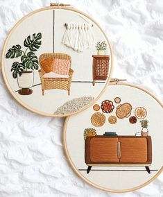 Embroidery Flowers Pattern, Hand Embroidery Patterns, Embroidery Kits, Cross Stitch Embroidery, Embroidery Designs, Contemporary Embroidery, Modern Embroidery, Ideias Diy, Embroidery For Beginners
