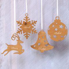 Personalised Engraved Christmas Tree Decoration - personalised