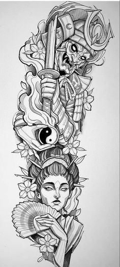 Samurai Tattoo Sleeve, Egyptian Tattoo Sleeve, Forearm Sleeve Tattoos, Tribal Sleeve Tattoos, Best Sleeve Tattoos, Tattoo Sleeve Designs, Japan Tattoo Design, Japanese Tattoo Designs, Japanese Tattoo Art