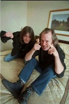 Malcolm and Angus Young ~ Malcom now suffers from Alzheimers Dementia - very sad