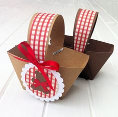 Teddy Bears Picnic Mini Baskets. Birthday party or baby shower favors, gift box, thank you gifts. Party favor box, table decorations. on Etsy, $6.40