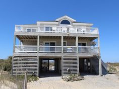 "Enjoy the incredible ocean and sound views from this beautifully decorated OBX vacation home. ""An Ode to Joy"" is located on the pristine 4x4 beaches north of Corolla. You won't find paved roads, but you will find gorgeous wild horses, miles of rolling dunes and peaceful natural surroundings.  In the evening, gather by the fire pit and watch the stars. Work and stress will become distant memories during your Carova, NC vacation.  Feel ""away from it all"" on the secluded 4-wheel-drive beaches,"