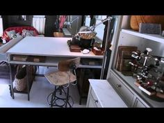 Take a video tour of this amazing home office cottage, a 250-square-foot space filled with creative organizing and storage ideas. #houseoftheyear #organization #storage