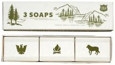 scout soaps -- perfect stocking stuffer for boy (or wedding camp favor)