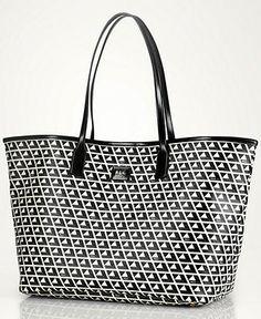 48fd3c3dce23 Lauren Ralph Lauren Romilly Classic Tile Tote Handbags   Accessories -  Macy s. Ralph Lauren HandbagsEveryday ItemsTote HandbagsHandbag Accessories Purses ...