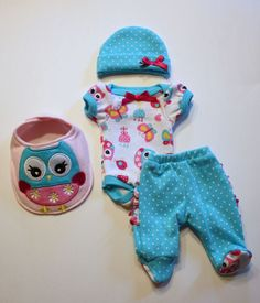 "OOAK Baby Doll Clothes Bodysuit Mini Reborn Micro Preemie 10"" (READ Description)"