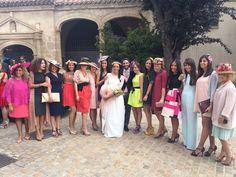 Las petardas con sus CarideNicolas Tocados en la boda de Pilar!! #CarideNicolasTocados www.caridenicolas.com