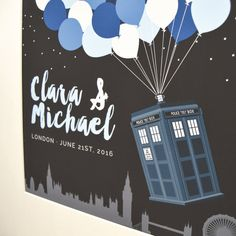 Dr who wedding guestbook featuring the tardis. Doctor Who Wedding Ideas