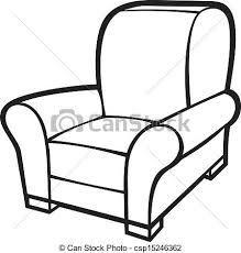 Armchair Leather Tub Chair Clip Art Vector