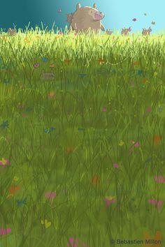 Chasing Butterflies - Sebastien Millon / Art & Illustration