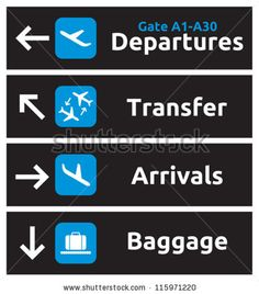 stock vector : Airport Signs
