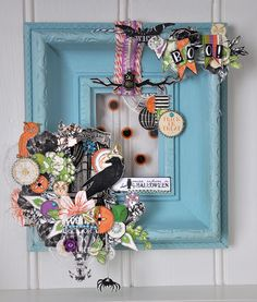 Halloween door wreath by Emma Trout using  NEW Webster's Pages Once Upon a Halloween.